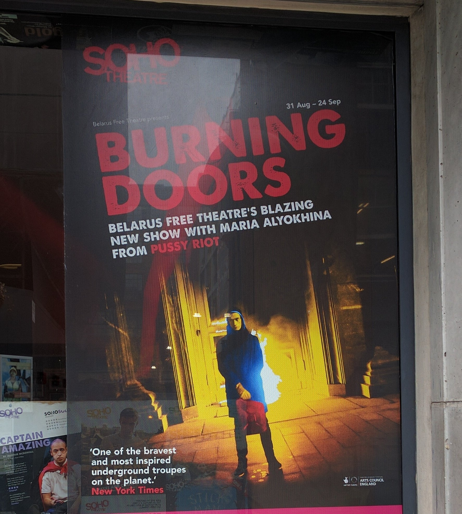 Intense, overwhelming and powerful political art from @BFreeTheatre #BurningDoors @sohotheatre #FreeSentsov https://t.co/Xrt5Gsfocw