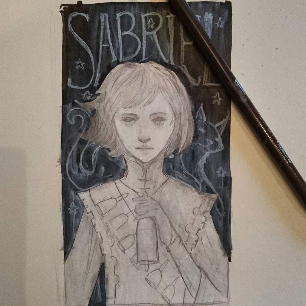 A quick sketch for a creepy book. #sabriel #garthnix #abhorsen https://t.co/VFpIctYRCO