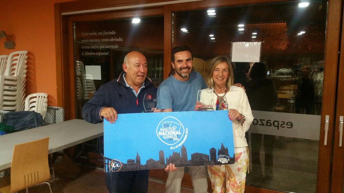 Nenillo Puig Saez y Marusela Costas Montero, Campeones del II Torneo de Mus Allariz