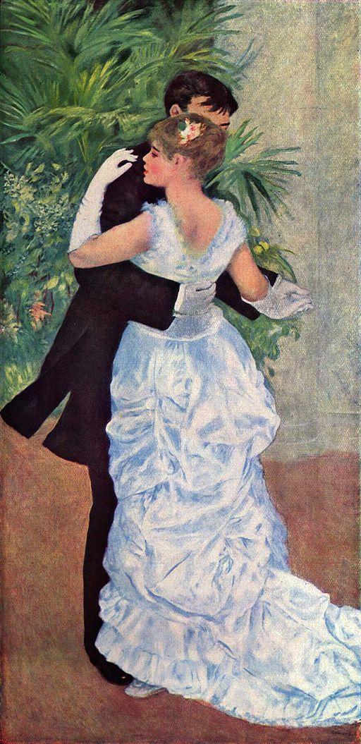 Dance in the City  (1882-1883)  Pierre-Auguste Renoir's works -> https://art-art-art.net/renoir/