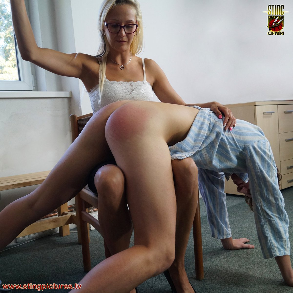 spanking cfnm femdom