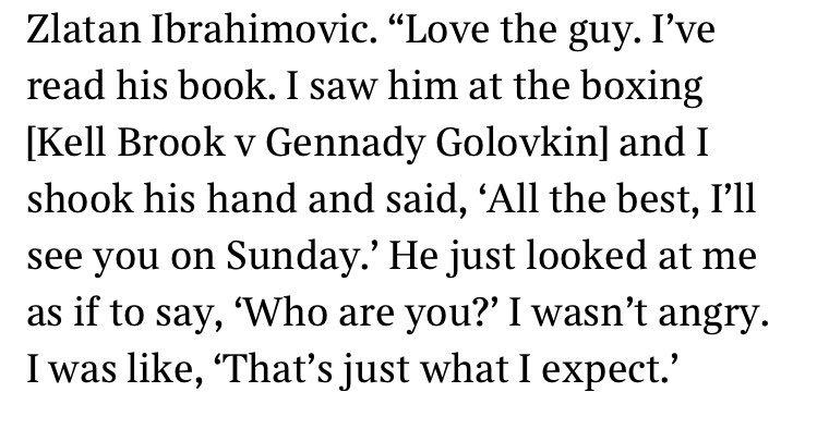What happened when Troy Deeney met Zlatan at the boxing last weekend...