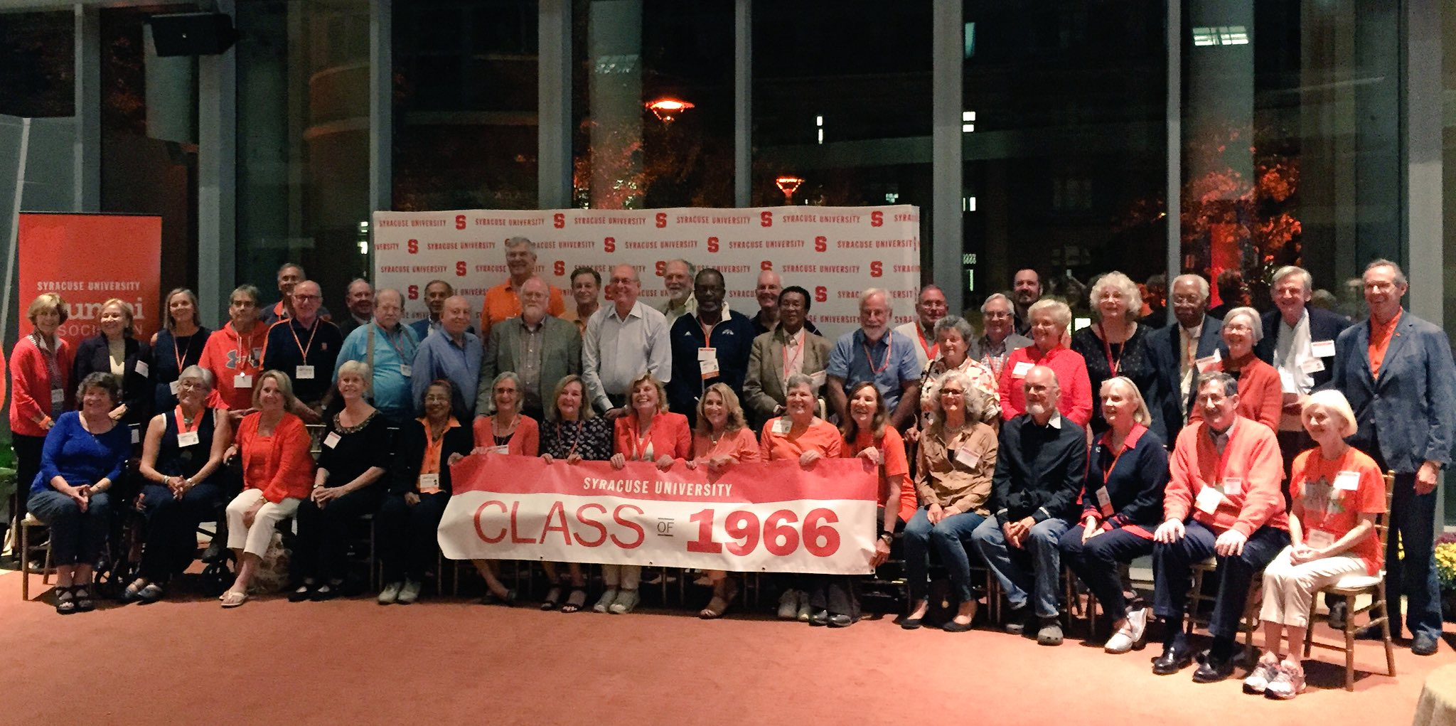So many members of our Class of '66 came back for their 50th. You'll see some familiar faces in here! #OrangeCentral https://t.co/bdXzECe9j8