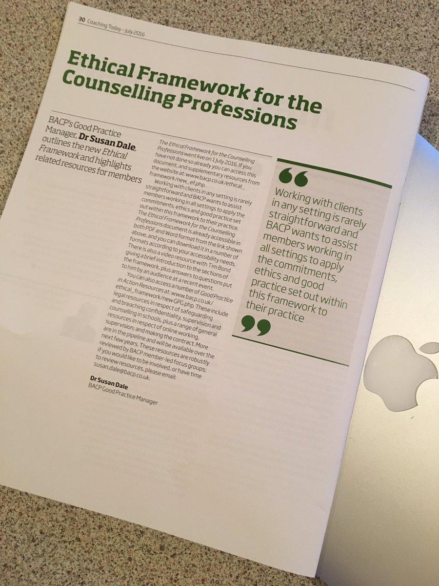 bacp ethical framework 2016 pdf