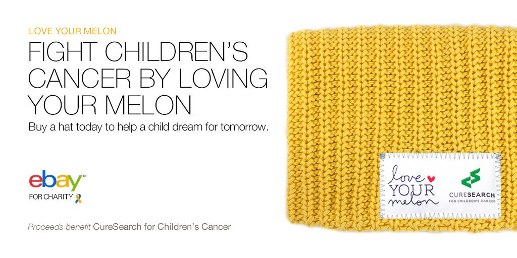 MakeItGoldForKids with this exclusive gold  LoveYourMelon beanie. 100% to   CureSearch. http   ebay.to 2co6S8H pic.twitter.com v9KBKVbEHG 5c5b7d99921