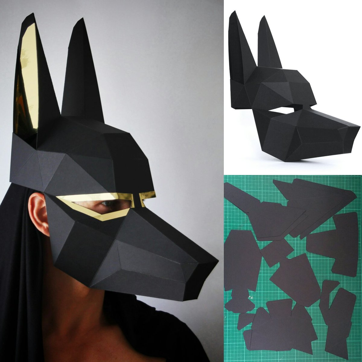 ntanos on twitter halloween sorted with egyptian god of the dead anubis print cut glue decorate etsy papercraft mask ntanos