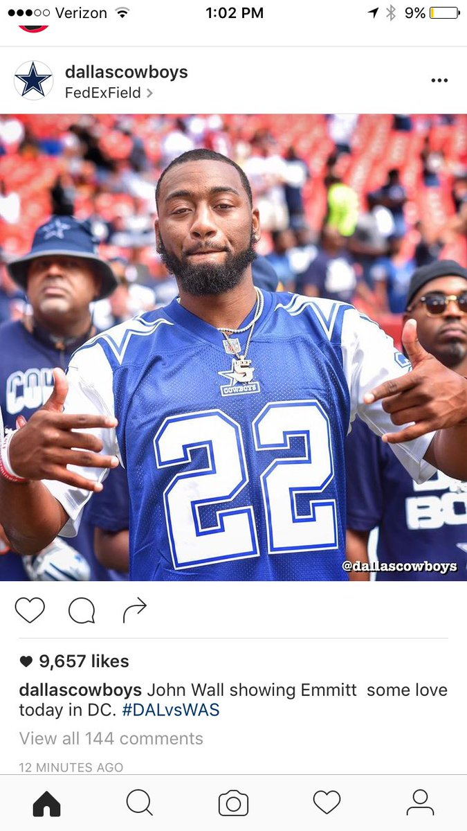 separation shoes 6addc 142e4 Washington Wizard's John Wall Attends Cowboys vs Redskins ...