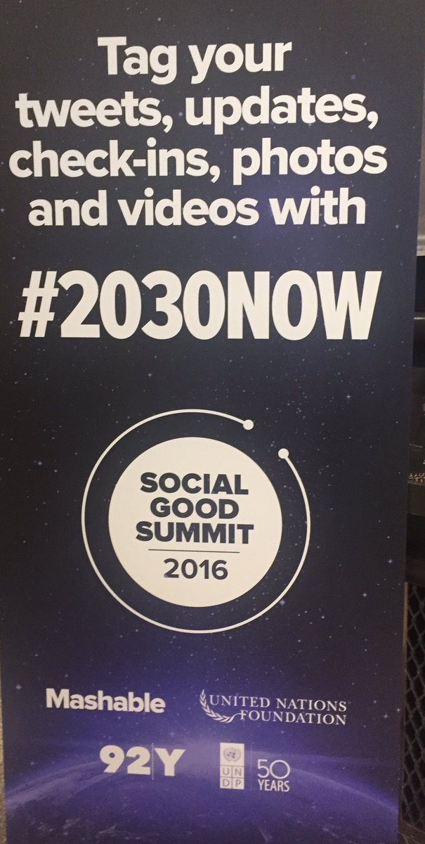 Check out #2030Now to follow the fascinating discussions taking place at the #SocialGoodSummit 2016. https://t.co/msynnwZ0bp