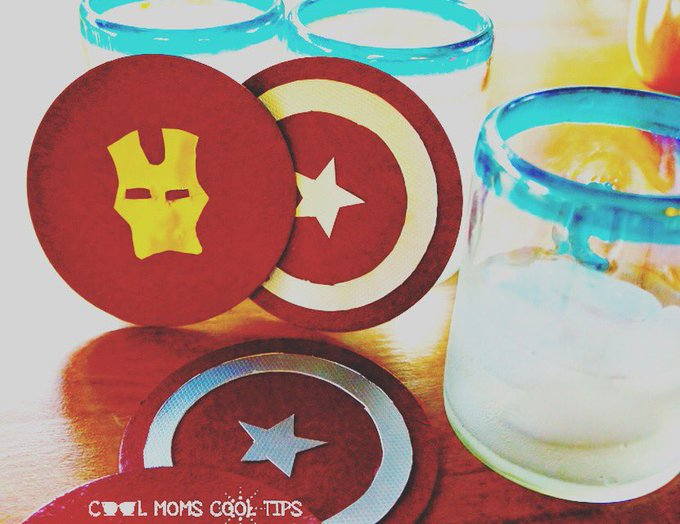Cool Captain America: Civil War Coasters DIY #CaptainAmericaCivilWar