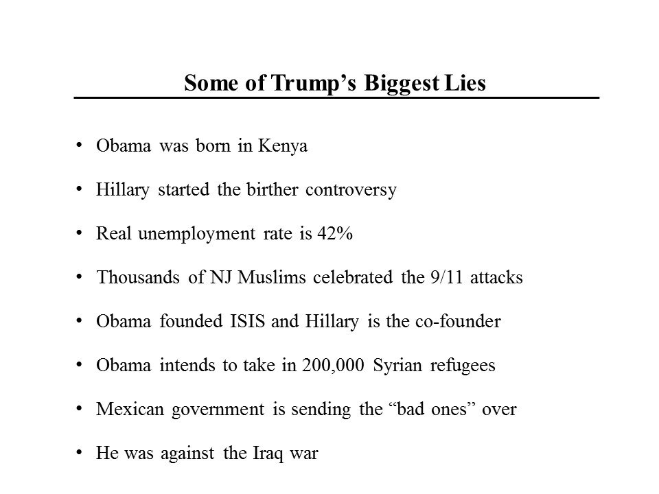 Steven Rattner On Twitter Some Of Trumps Biggest Lies Per
