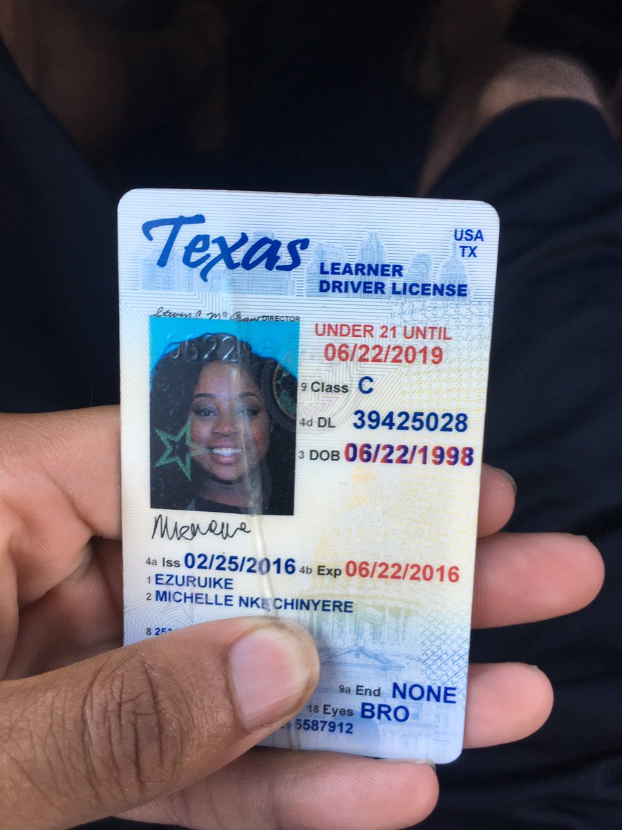 what does a texas under 21 drivers license look like
