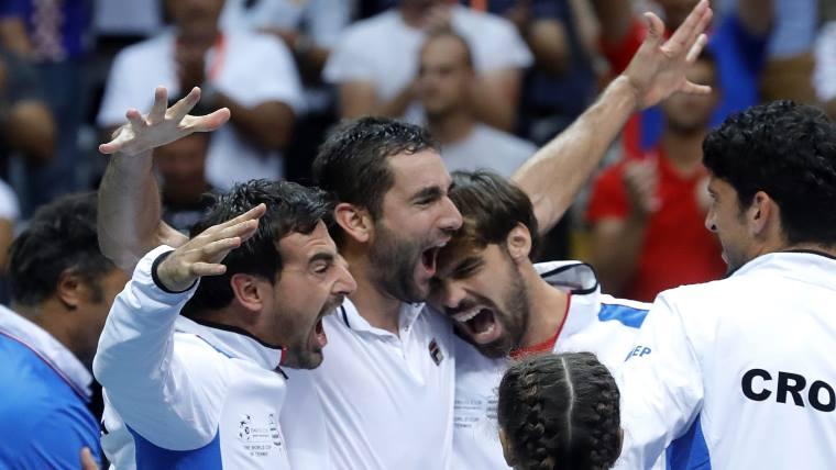 Croacia festeja . Davis - Daviscup.com