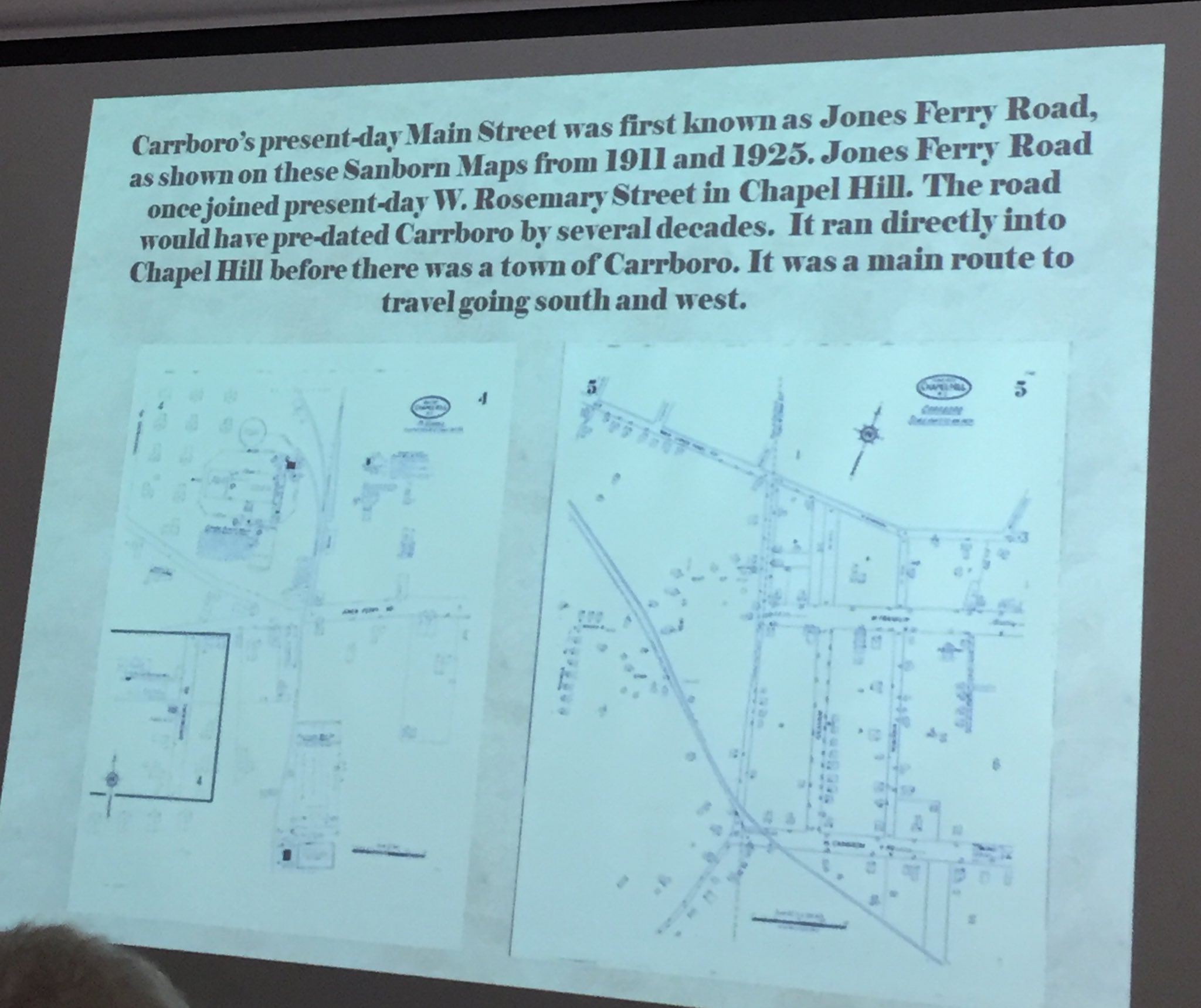 @chpublib Present day #Carrboro Main Street was first known as Jones Ferry Road #jonesferry https://t.co/94oLGoXC80