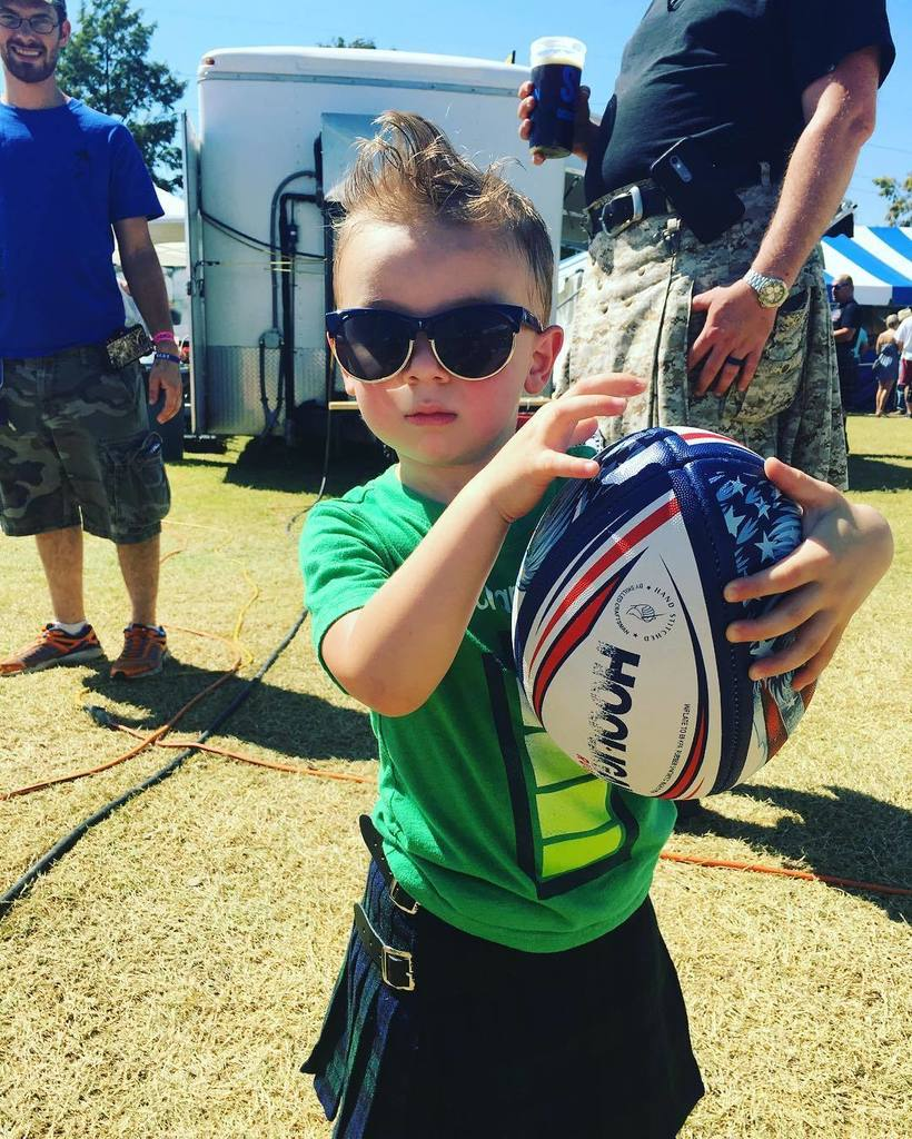 This may be the coolest kid at #Scotfest! He is ready to play some rugby. https://t.co/anQYJ4WxJ8 https://t.co/GcbjXbJd7M