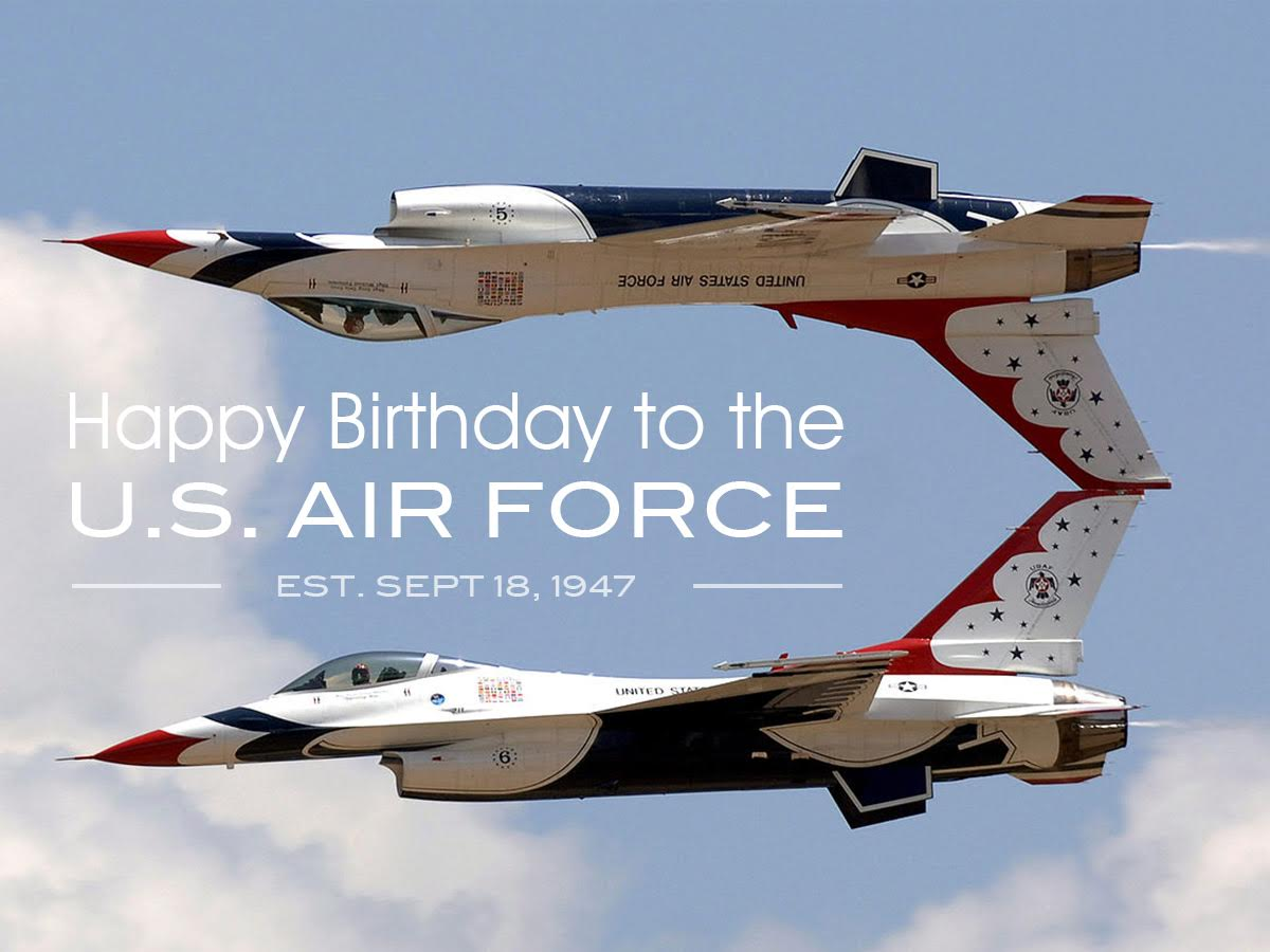 Formed this day in 1947, @usairforce continues to fly, fight, & win. Thankful for all our women & men in uniform.