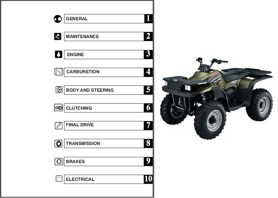 polaris 250 trail blazer 2003 workshop manual