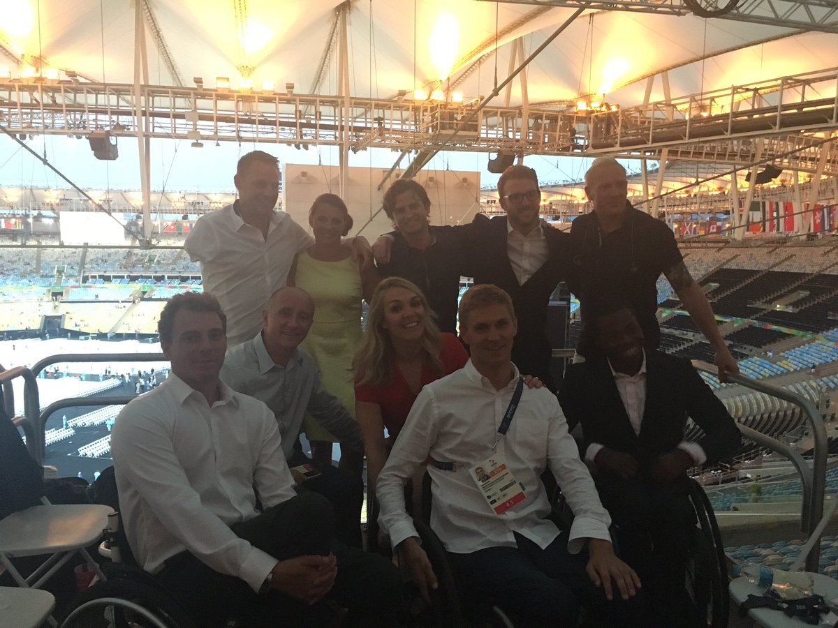 Some of the @C4Paralympics Dream Team all set for closing ceremony https://t.co/QmputmFsnU