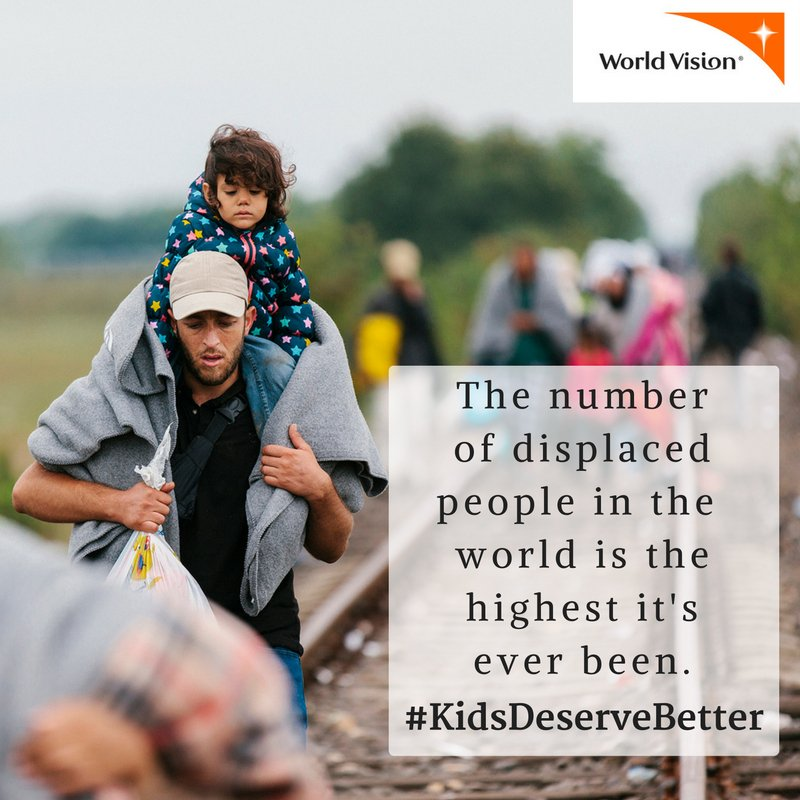 According to UN, the # of displaced people is the highest it's ever been. https://t.co/tMQReCH5xj #KidsDeserveBetter https://t.co/XsJtR4Bu9v