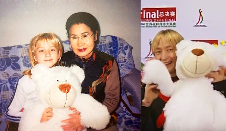 "Lilyshenka On Twitter: ""チビミーシャとおばあちゃん ミーシャが抱っこしてるのはジェーニャに"