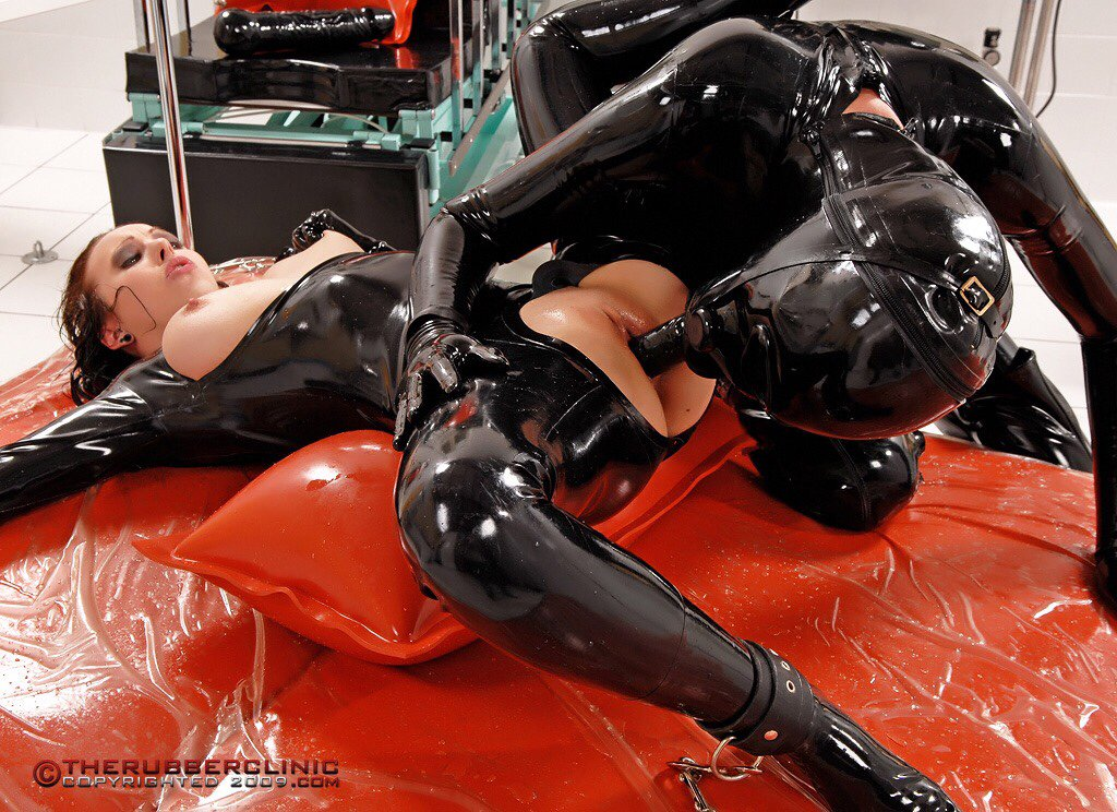 Dressed all in rubber
