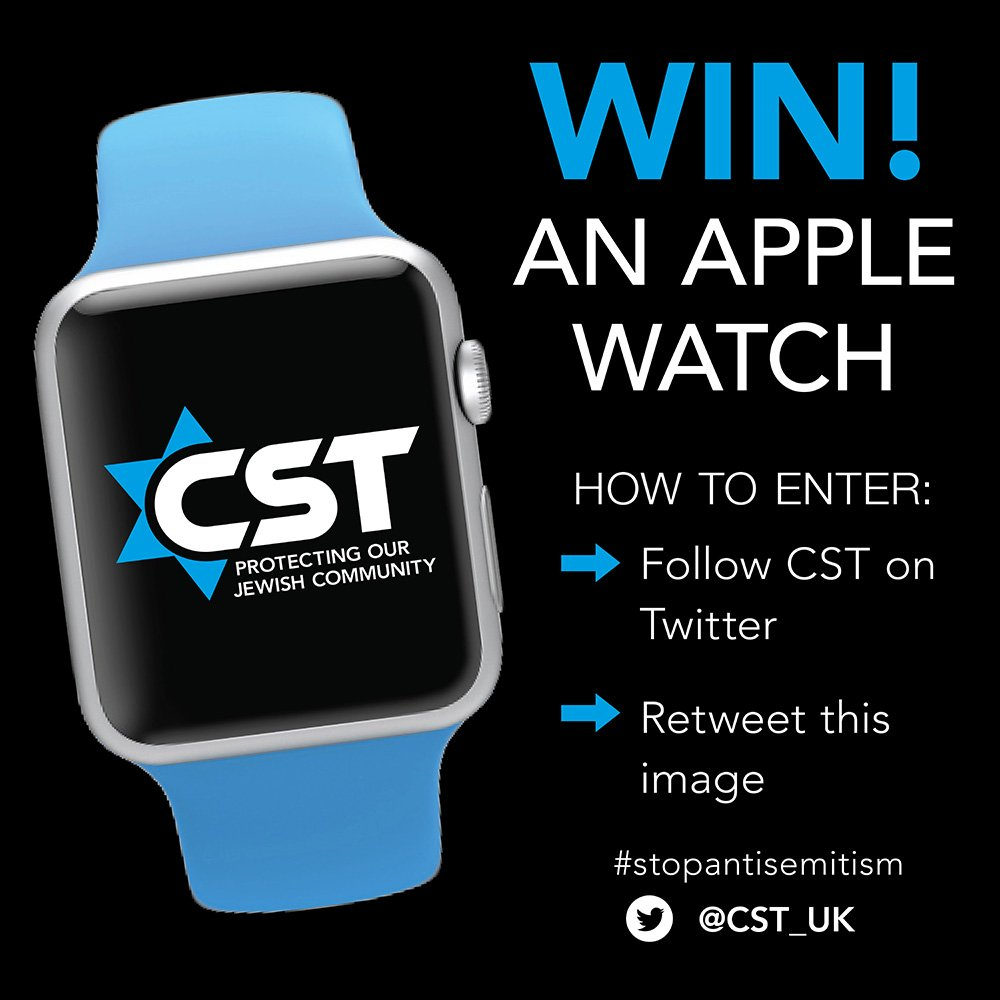 Time to support CST's fight against antisemitism. Enter our competition #stopantisemitism and win an Apple Watch ⌚️ https://t.co/PA448sglV3