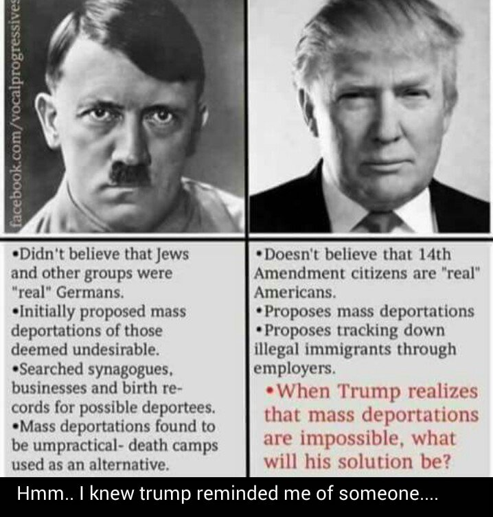 Just compare Trump to Hitler, and see if you aren't scared. https://t.co/RF7IGD0JF4