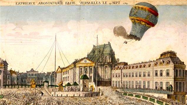 """Histoire de France on Twitter: """"Le 19 septembre 1783, à Versailles, Étienne  de Montgolfier lâche pour la première fois un ballon à air chaud.… """""""