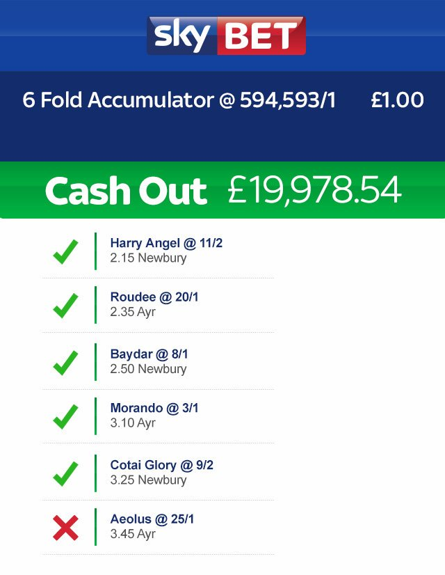 sky bet cash out