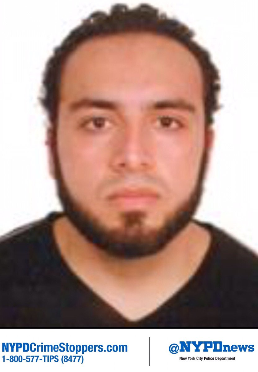 WANTED: Ahmad Khan Rahami, 28, in connection to the Chelsea explosion. Call #800577TIPS with any information. https://t.co/rBDQGfXwbh
