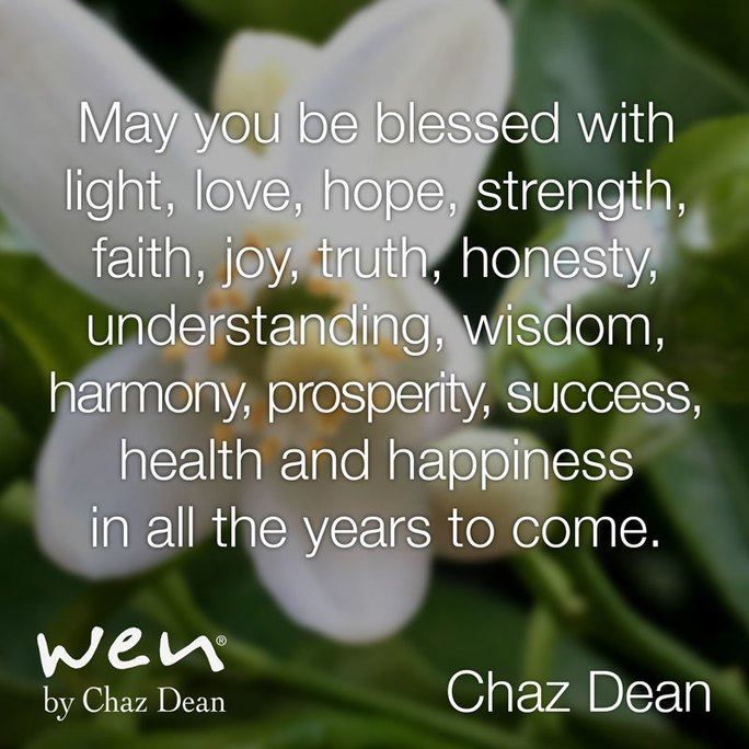Let's start this week with Chaz Dean's signature blessing