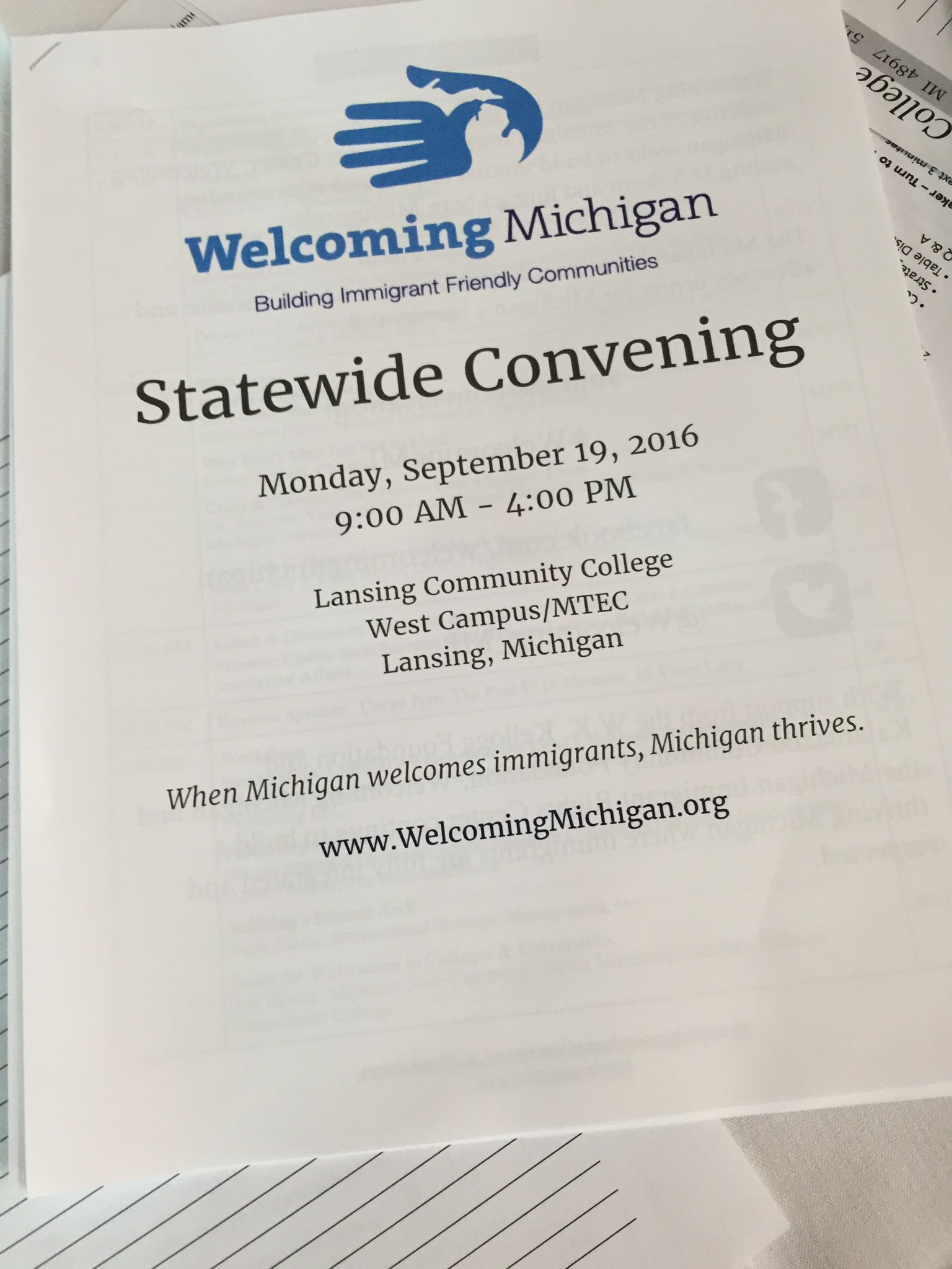 We're excited to present @Welcoming_MI Statewide Convening in @lansingmichigan today! #WelcomingWeek #WelcomingMi https://t.co/LJpnc5WLwf