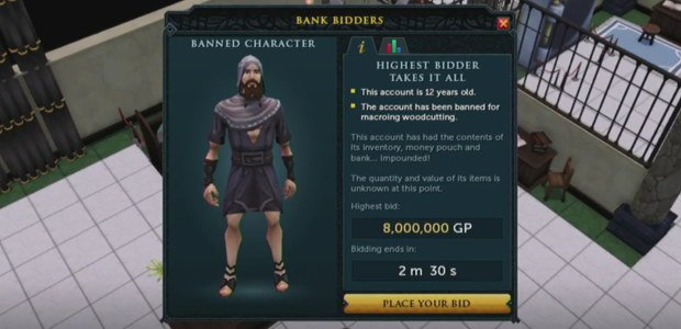 RuneScape is adding Storage Wars-style auctions for banned players' possessions: https://t.co/kfVKjwonhN https://t.co/KDUQ6LRhFD