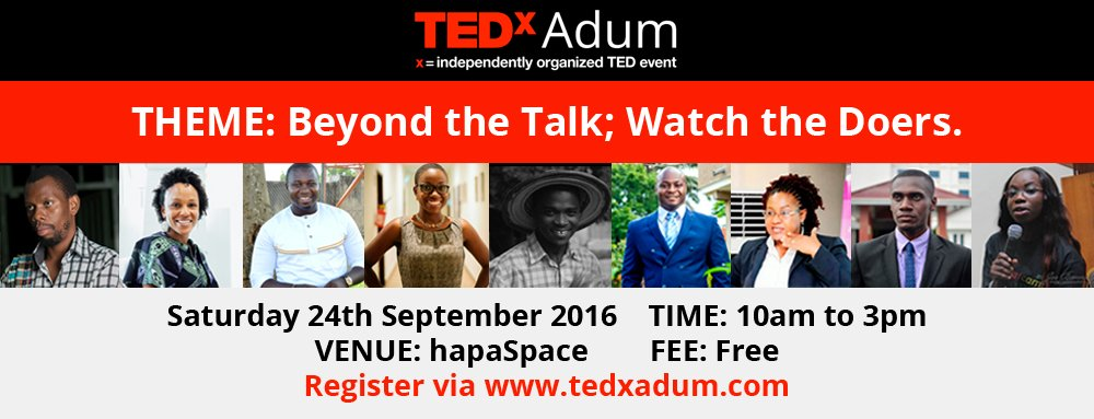 This Saturday, during #NVDay16, join us @  #TEDxAdum @HapaSpace in #Kumasi. Register  https://t.co/w7zri9h5XT   https://t.co/PtZjgoiXhb
