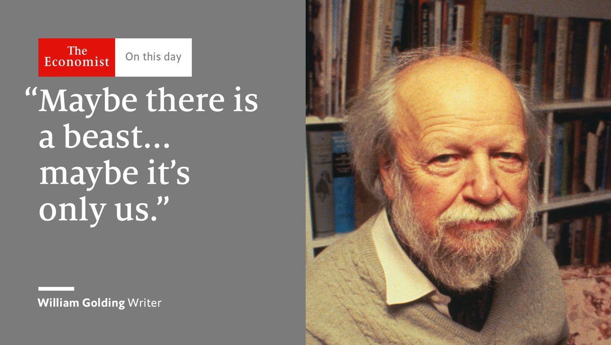 William Golding was born #OnThisDay 1911. He wrote to understand his own 'muddy mind' https://t.co/Uqh0uNkAnS