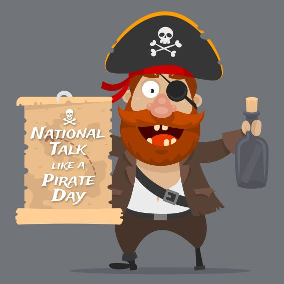 Arrrghh, ye better be speaking like a pirate today, it's #TalkLikeAPirateDay! https://t.co/zmlDnRaFV5