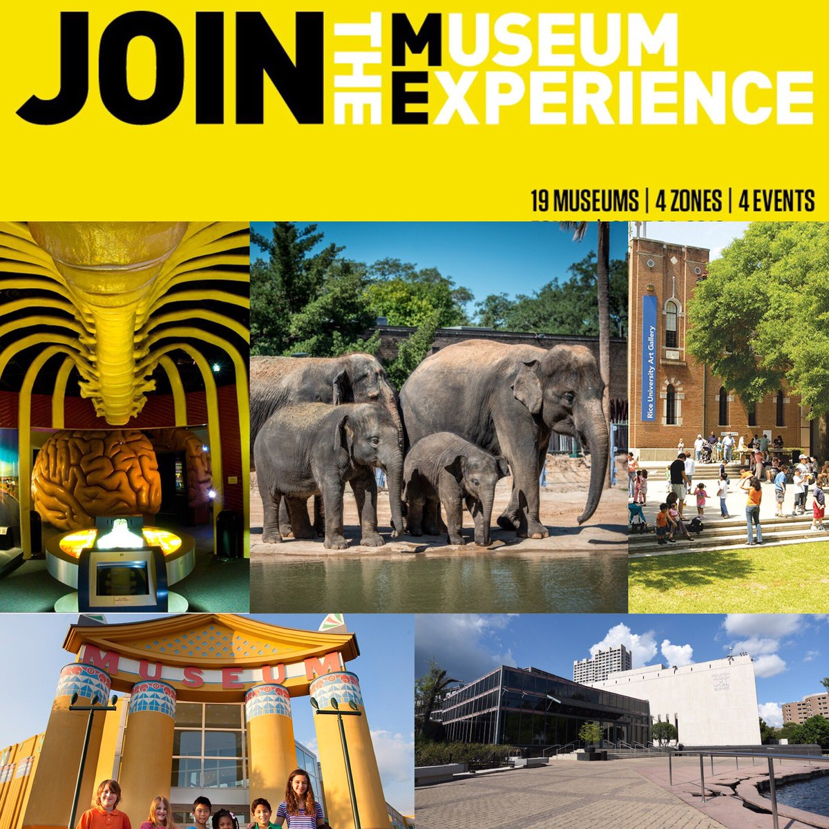 Museum Experience Day is this Saturday, Sept 24 at @cmhouston, @thehealthmuseum, @hmns, @houstonzoo and @RiceGallery https://t.co/66HWMXDmax