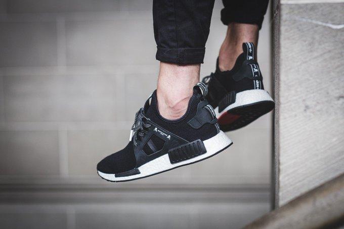 Cheap Adidas Originals NMD Runner Primeknit Sneakers Black Yellow