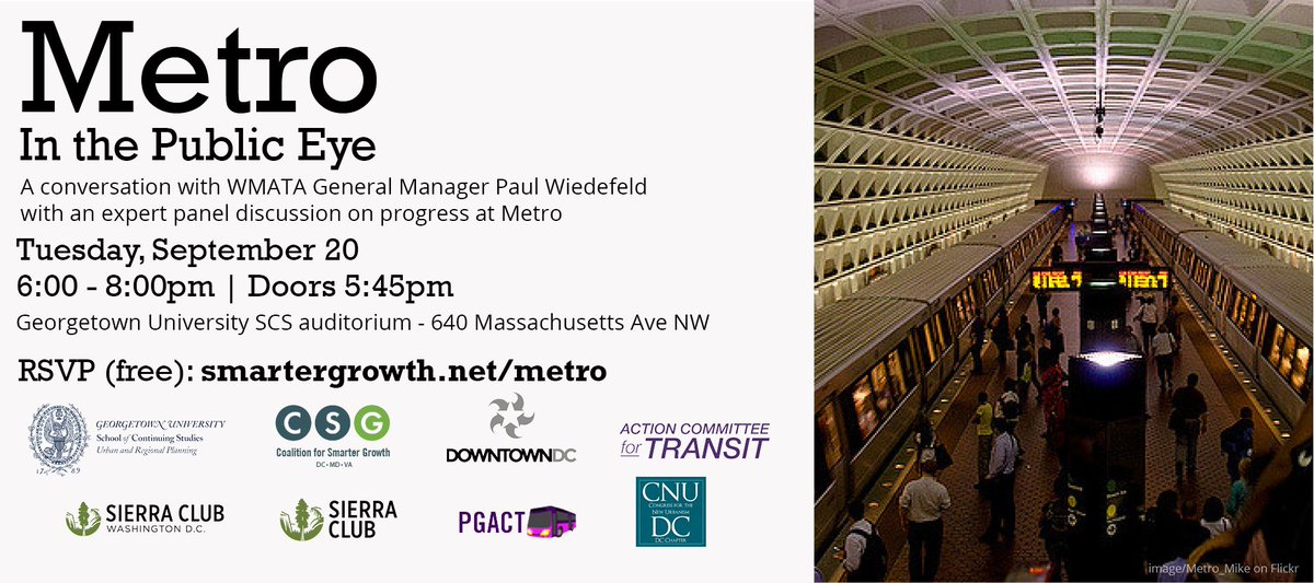 Don't miss the #WMATA panel tomorrow with Paul Wiedefeld featuring @neilalbertdc 6PM #DowntownDC #somuchmore #ICYMI https://t.co/H4b9cLyGqX