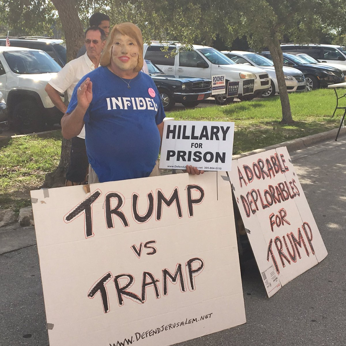 PHOTOS: Trump supporters wait outside Germain Arena in Fort Myers https://t.co/K61Z3VqzOh via @sharethis https://t.co/E78uP7yNaz
