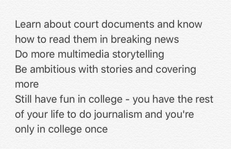 My Q: what do you wish you had done or done more in college to prepare for your job? Answers in photo #EIJ16 https://t.co/am88JbFyMd