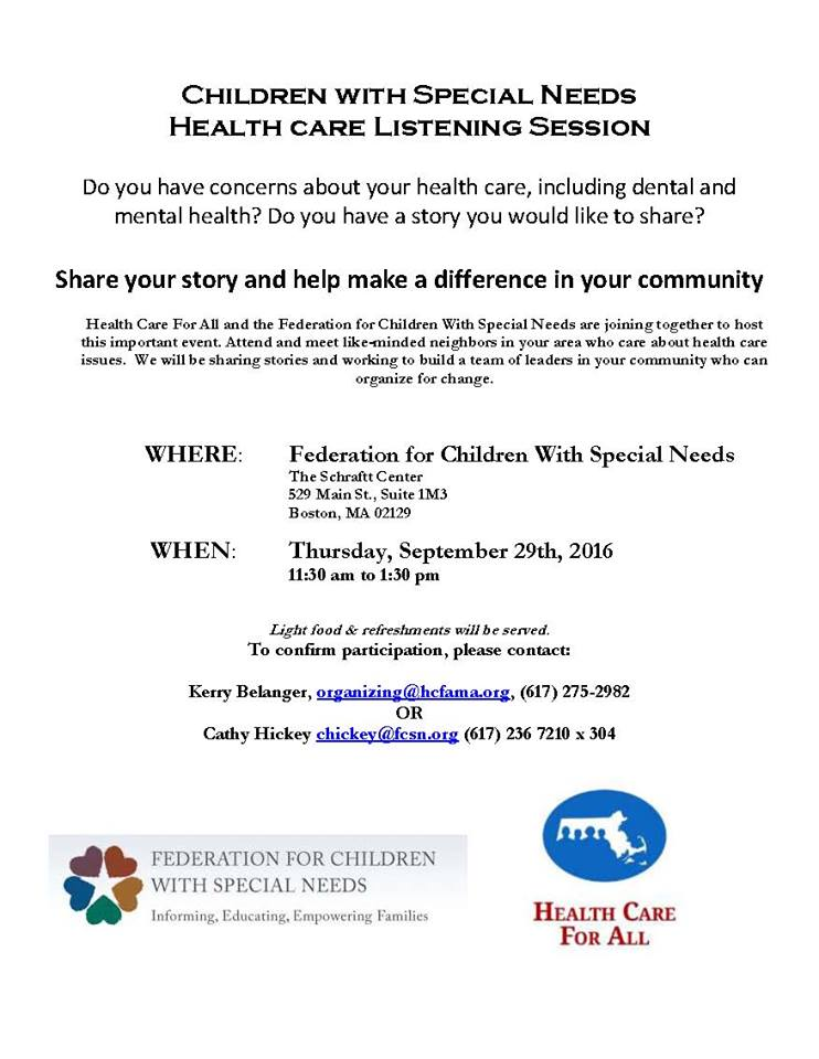 Do you have a child with special needs and want to share your story? Attend our Listening Session on the 29th! https://t.co/J64CD2N4ob