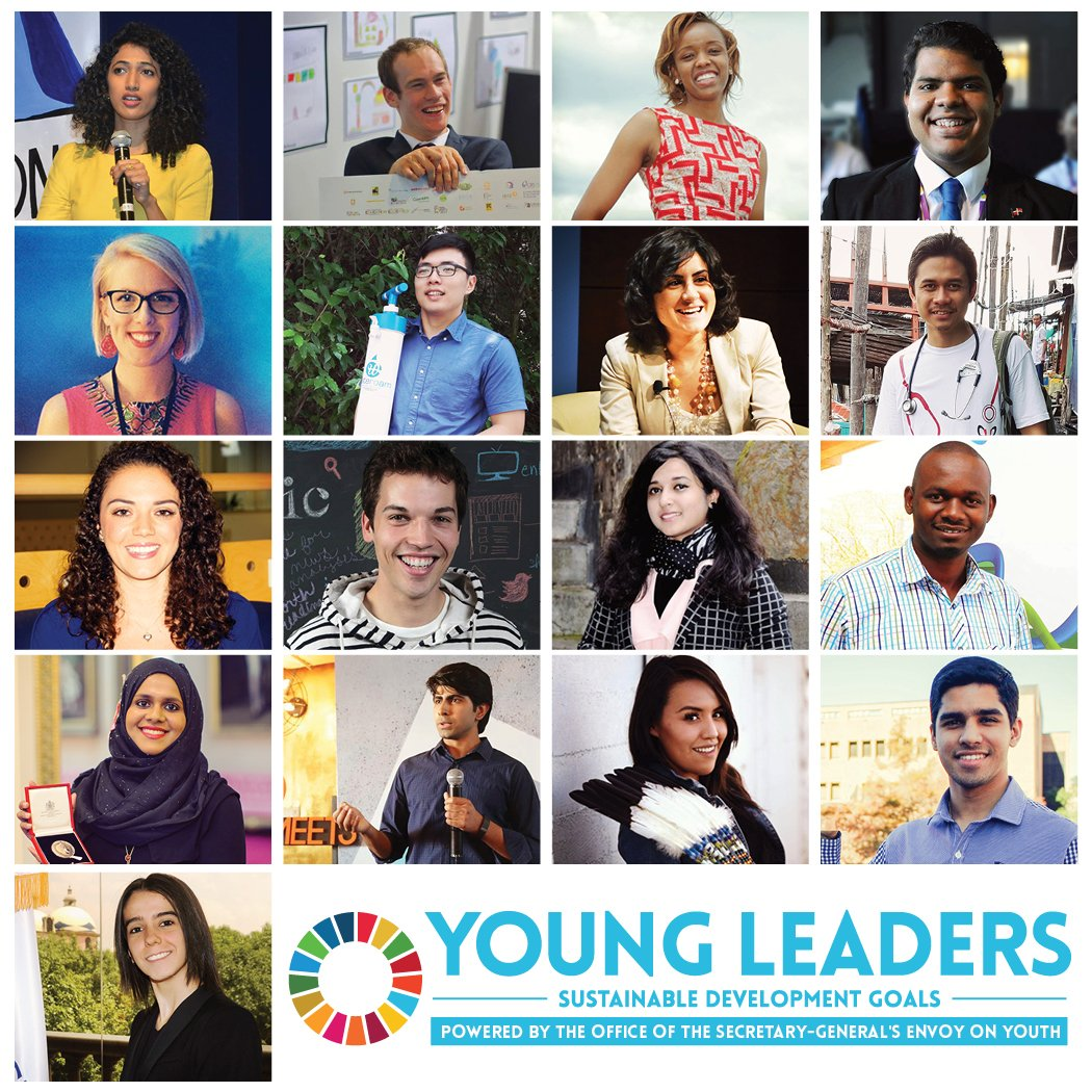17 young leaders for 17 Goals. Energising to see. #SDGs are a youth agenda https://t.co/XpejnZTmPf #UNYoungLeaders https://t.co/7wgMEmgbwu