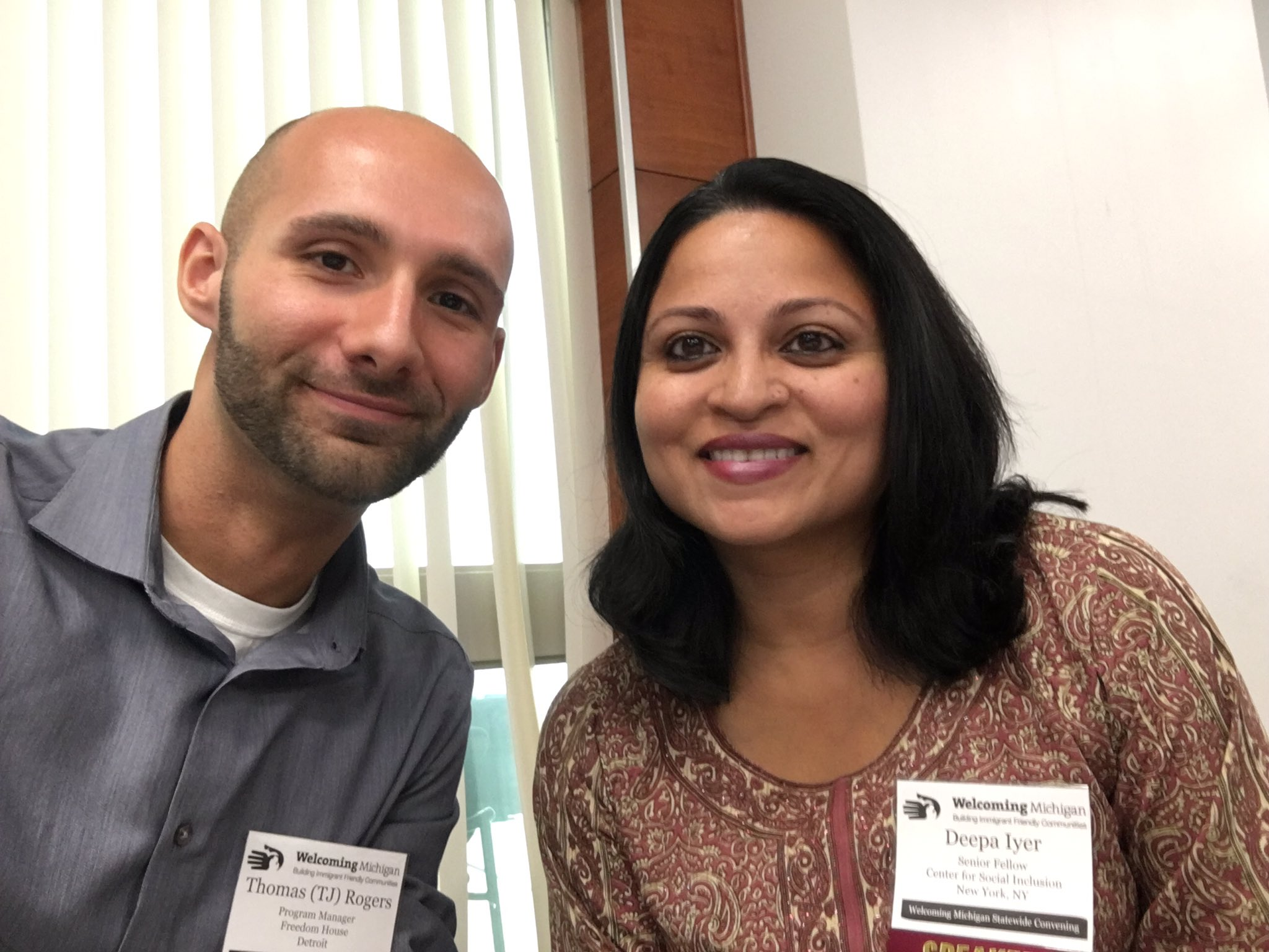 Keynote @dviyer & I at @Welcoming_MI Statewide Convening! #WelcomingMI #racialjustice RefugeesWelcome #WithRefugees https://t.co/T4s2xFh2It