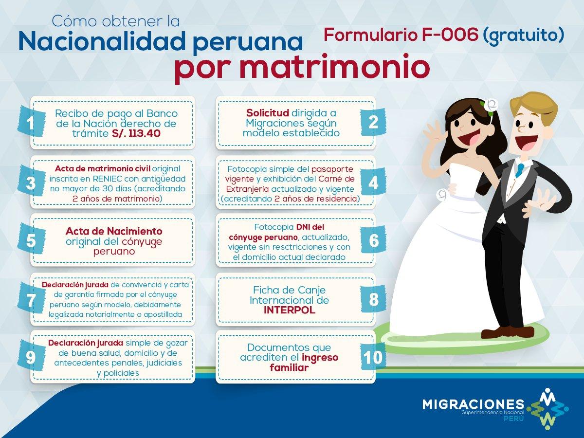 Matrimonio Catolico Requisitos Peru : Migraciones perú on twitter quot tunuevamigraciones