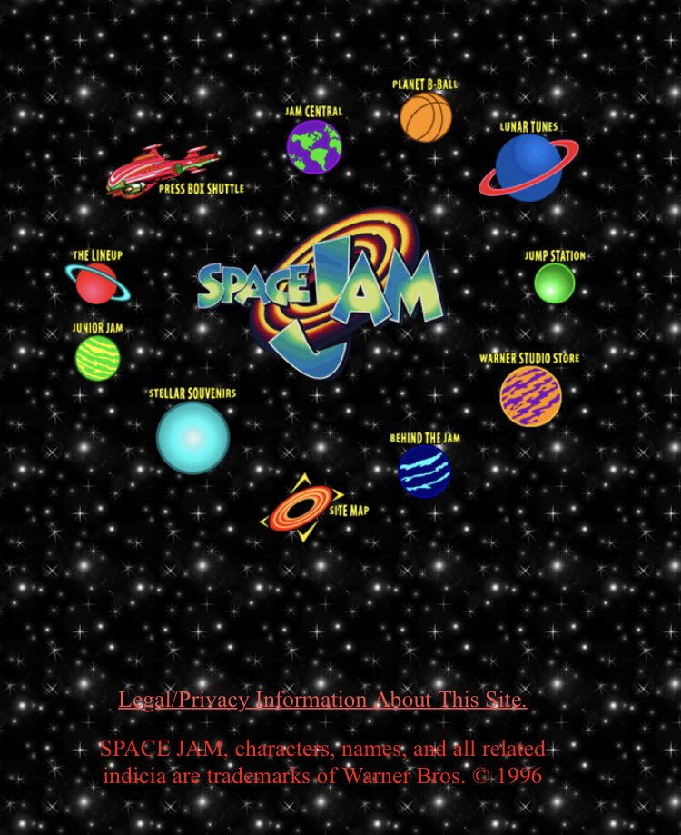 It's the 20th anniversary of the Space Jam website! Keep on trucking big guy! https://t.co/d3VgWxPB17 https://t.co/GkYlEpdtvG