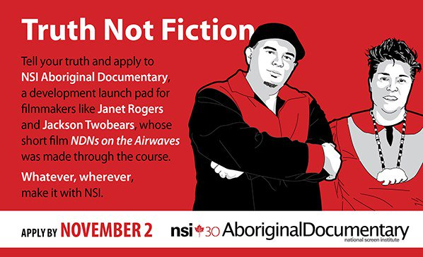 Director/producer teams: apply for NSI Aboriginal Documentary and get training, mentorship… https://t.co/OuzduFNBcV https://t.co/CjFVGCrNNc