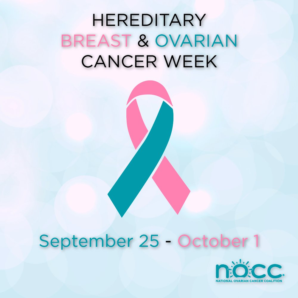 National Ovarian Cancer Coalition On Twitter Hereditary Breast And Ovarian Cancer Week Begins Today It S Time To Raise Awareness About Hereditary Cancer Hboc