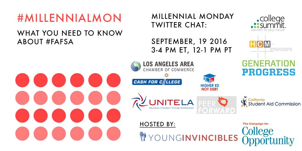 Welcome to #MillennialMon! Today's topic: What You Need to Know about 2017-18 #FAFSA https://t.co/vPqnuzNW8c