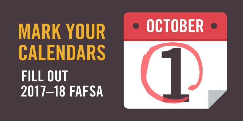 A2: Students can begin filling out #FAFSA on Oct. 1 and will still have until March 2nd to submit #MillennialMon https://t.co/dGxLSCIPu6