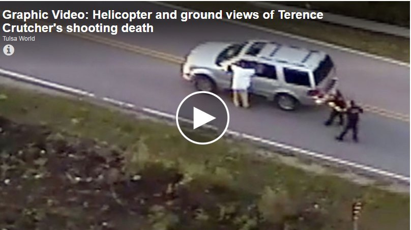 Graphic Video: Helicopter and ground views of the shooting death of #TerenceCrutcher https://t.co/JZ5StrQJzB https://t.co/IZYw29M5ft